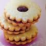 Špaldovo-kukuřičné linecké sušenky