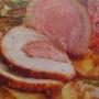 Bůčková roláda pečená na bramborách