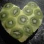 Valentýnský kiwi dort