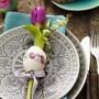 Velikonoční tulipánové prostírání