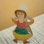 Tančící panenky z ruliček