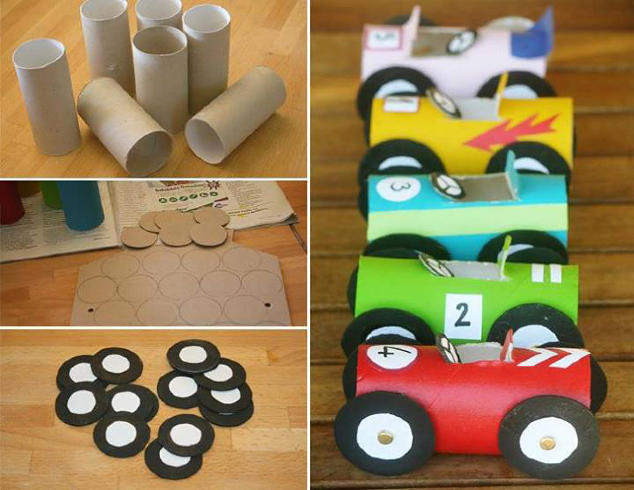 Поделки машинки с детьми 3-4 лет