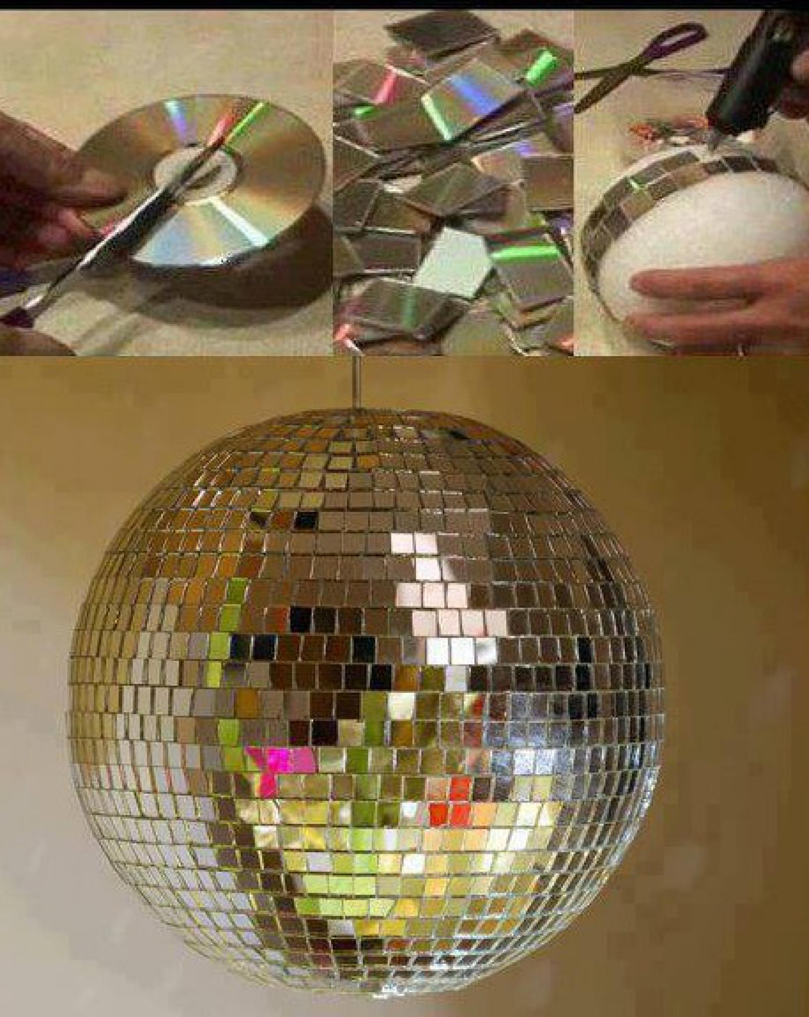 Как сделать зеркальный шар своими руками в домашних