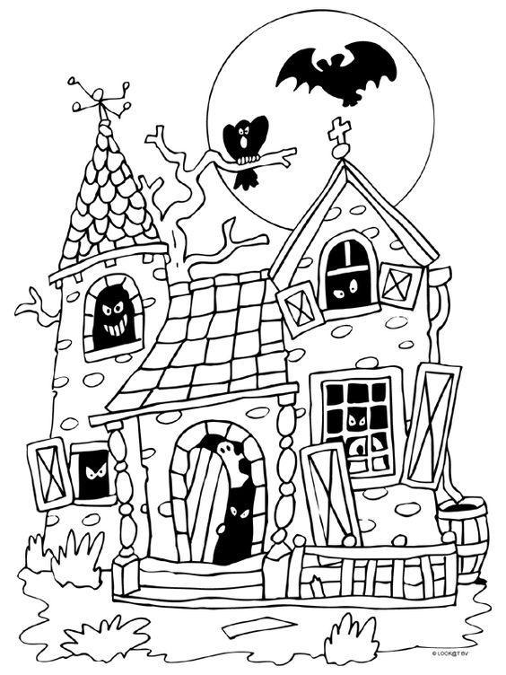 kleurplaat heksenhuis hans en grietje knabellen