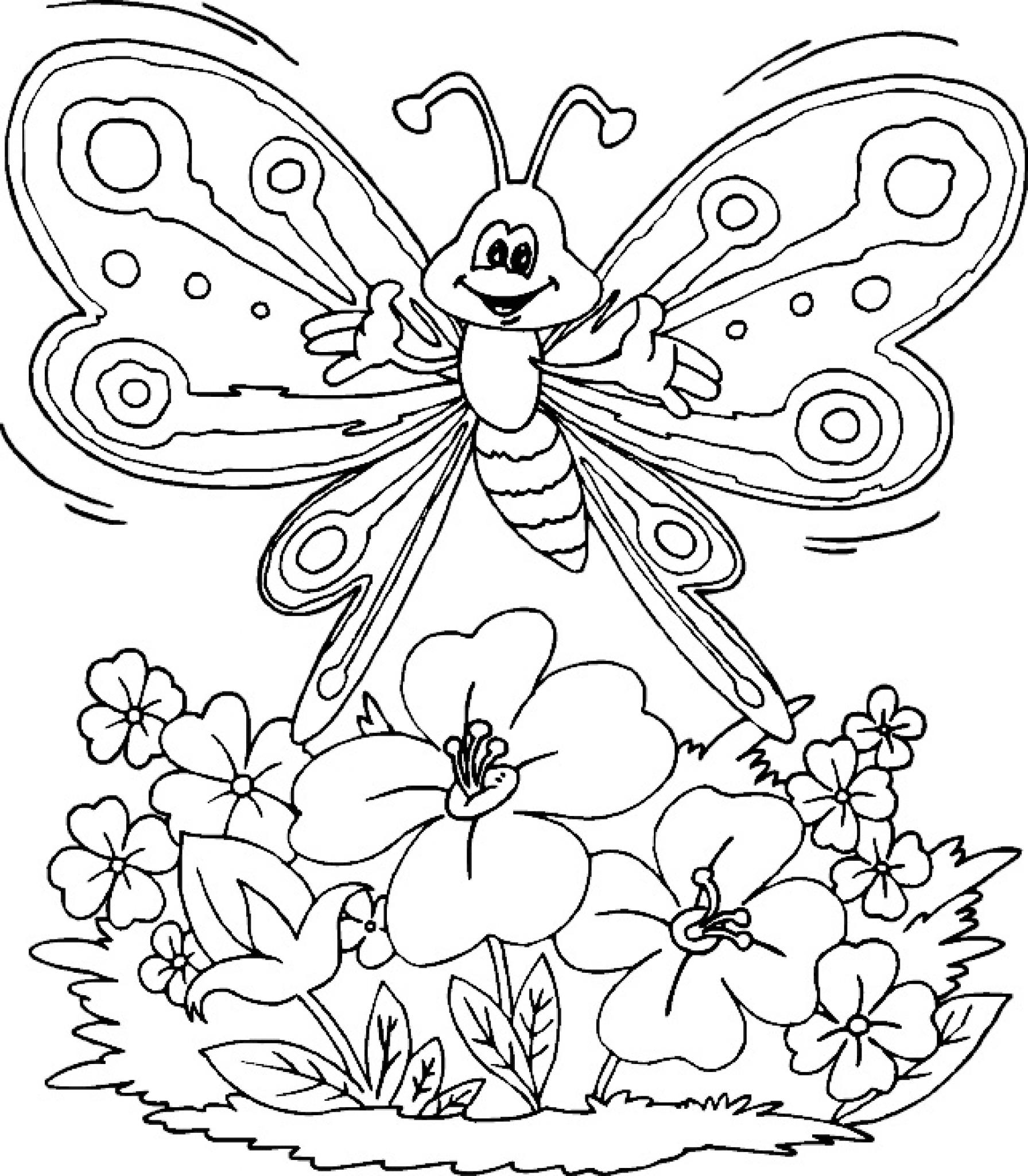professional coloring pages flowers - photo#4