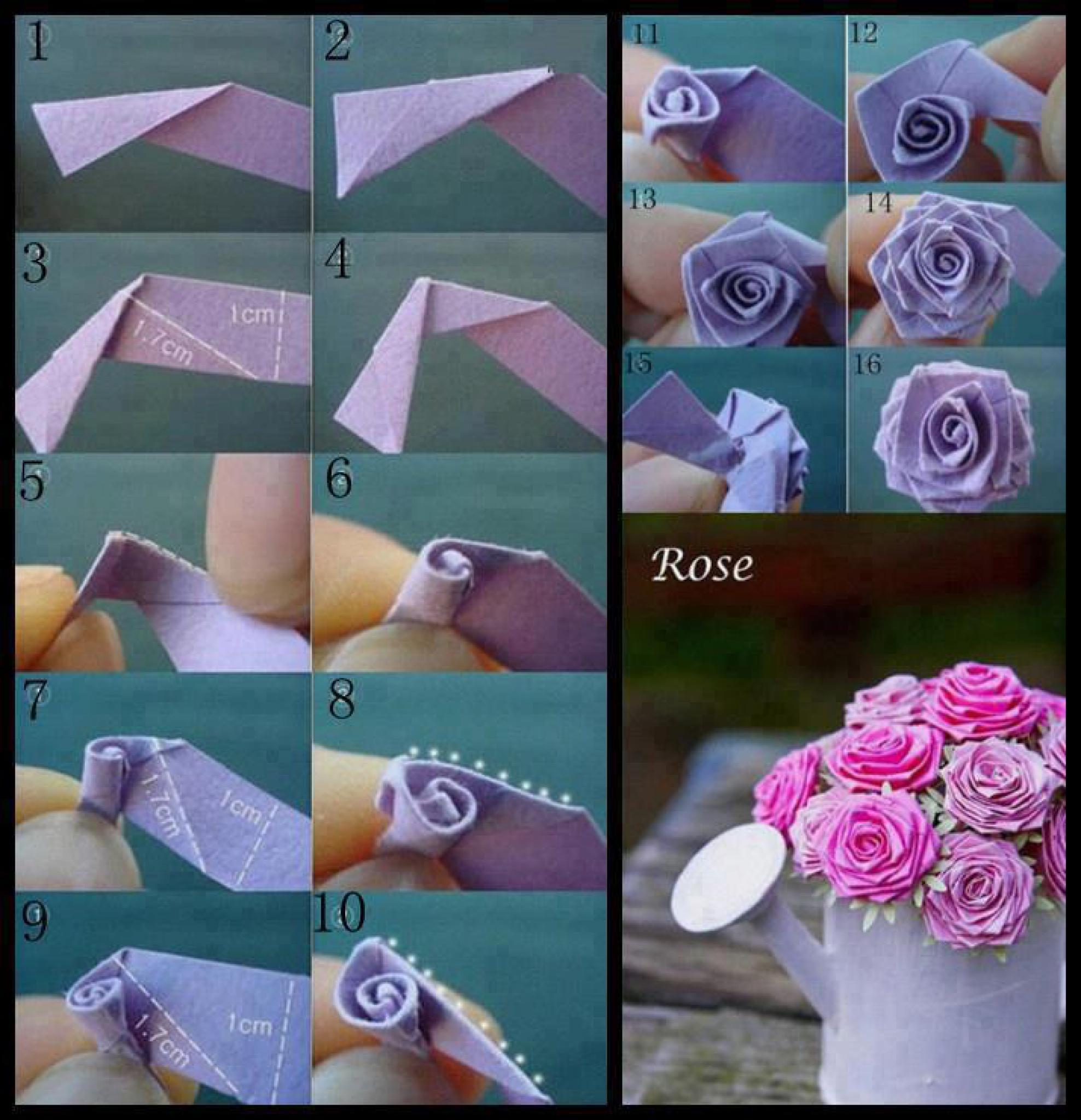 Сделать розу из бумаги пошаговое фото