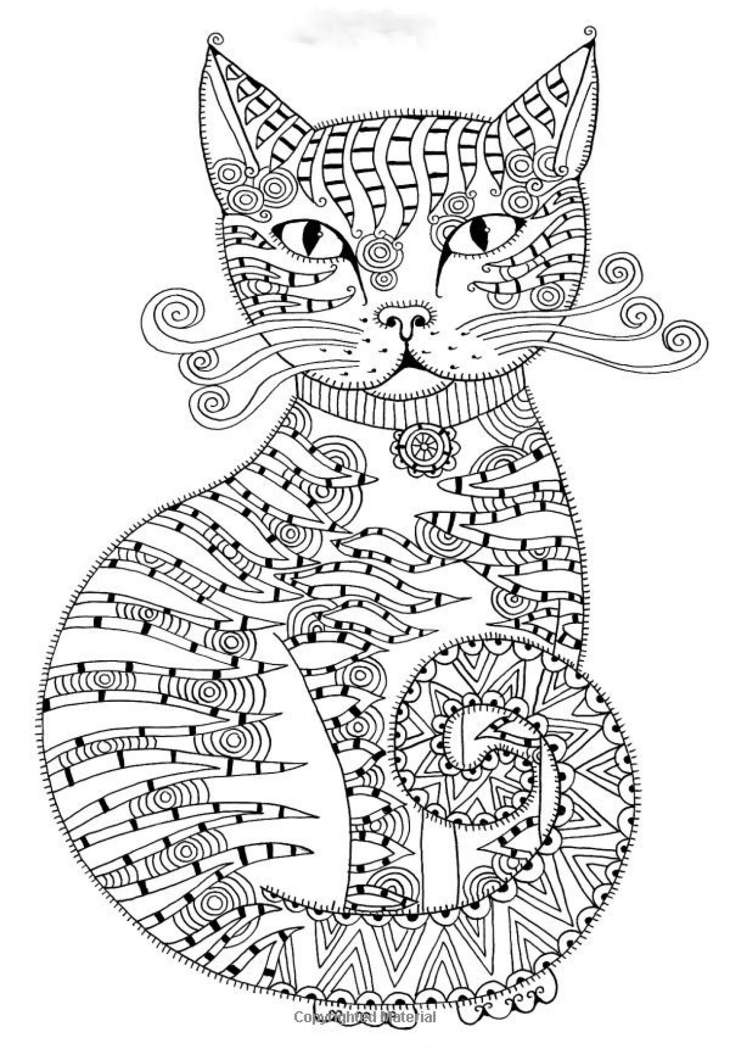 art therapy coloring pages cat - photo#14