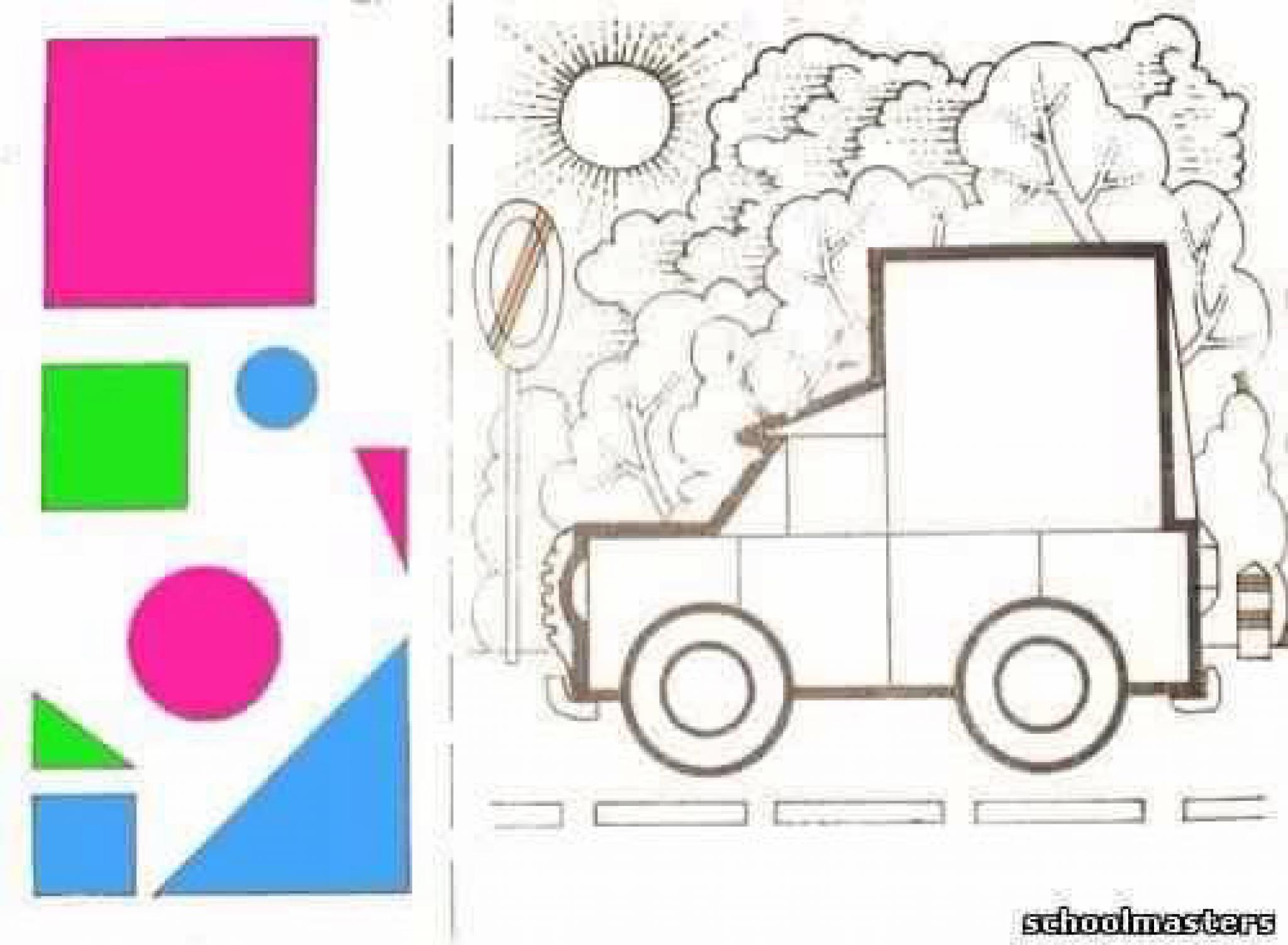 Аппликаций из бумаги с детьми транспорт