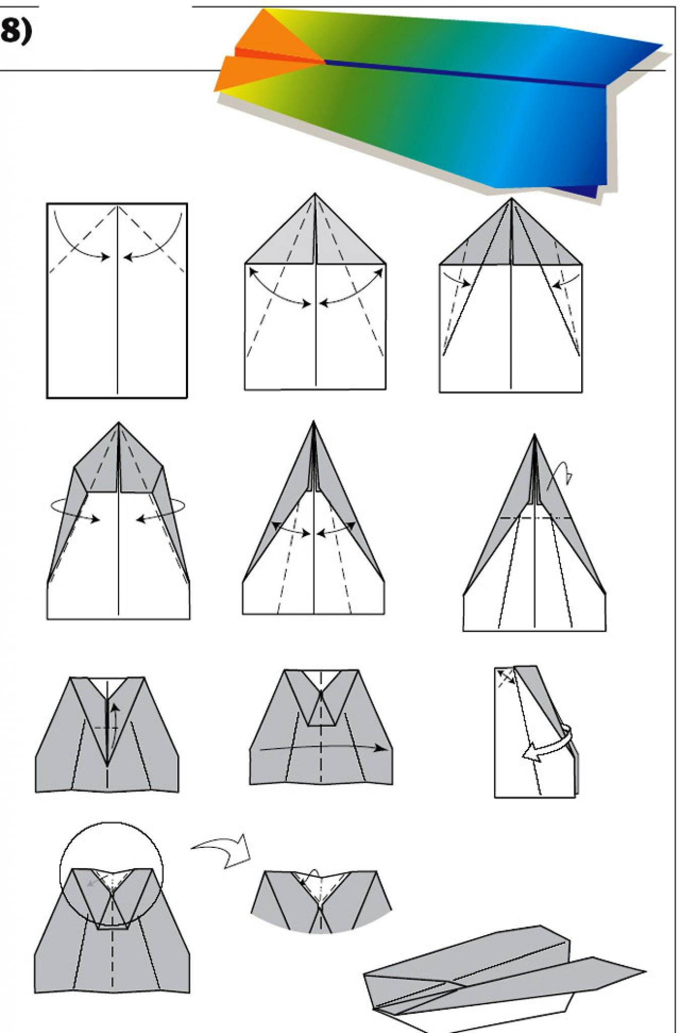 Как сделать самолет из бумаги чтобы он летал с пропеллером