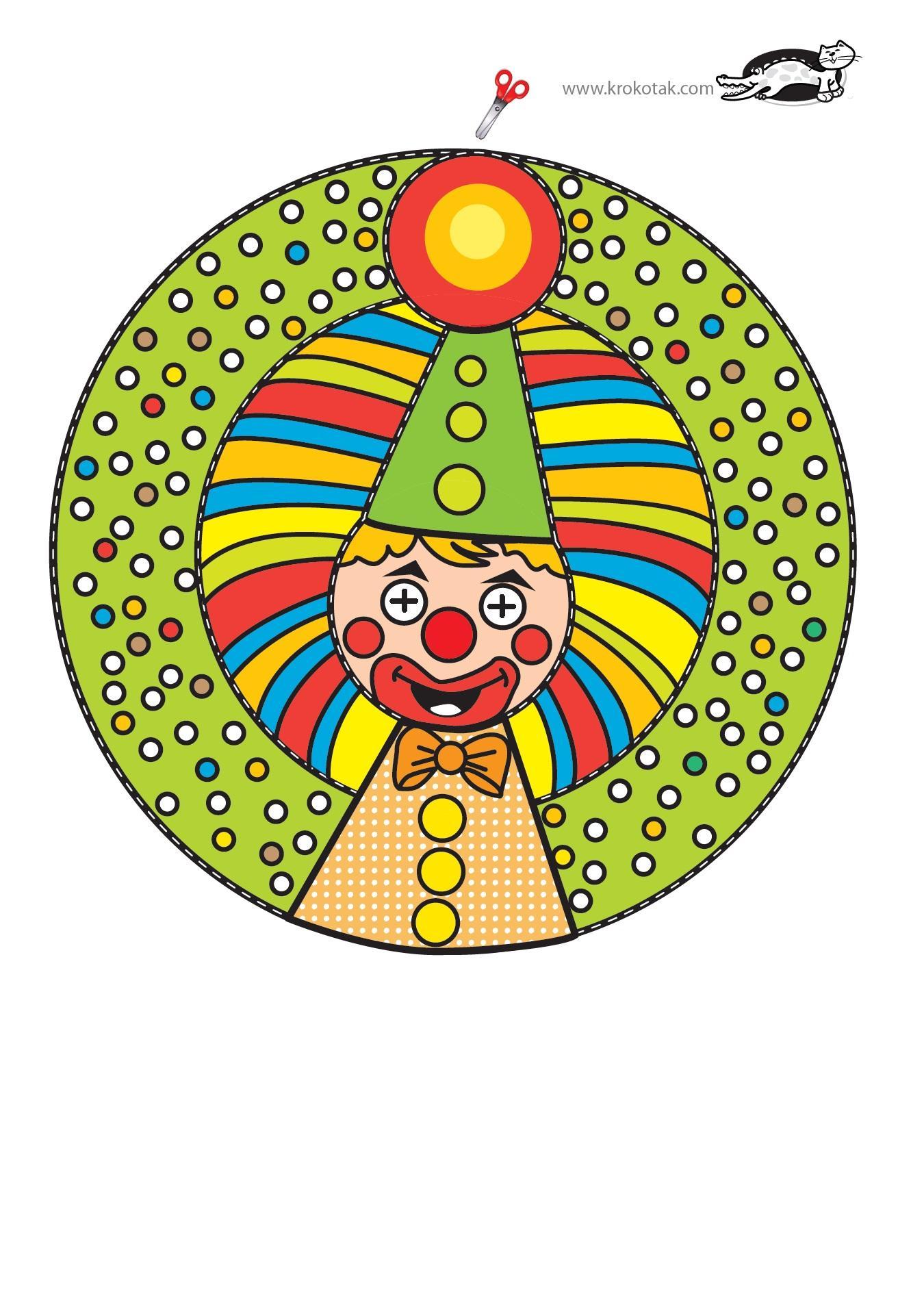 Как сделать клоуна из бумаги своими руками, мастер класс, схема 31