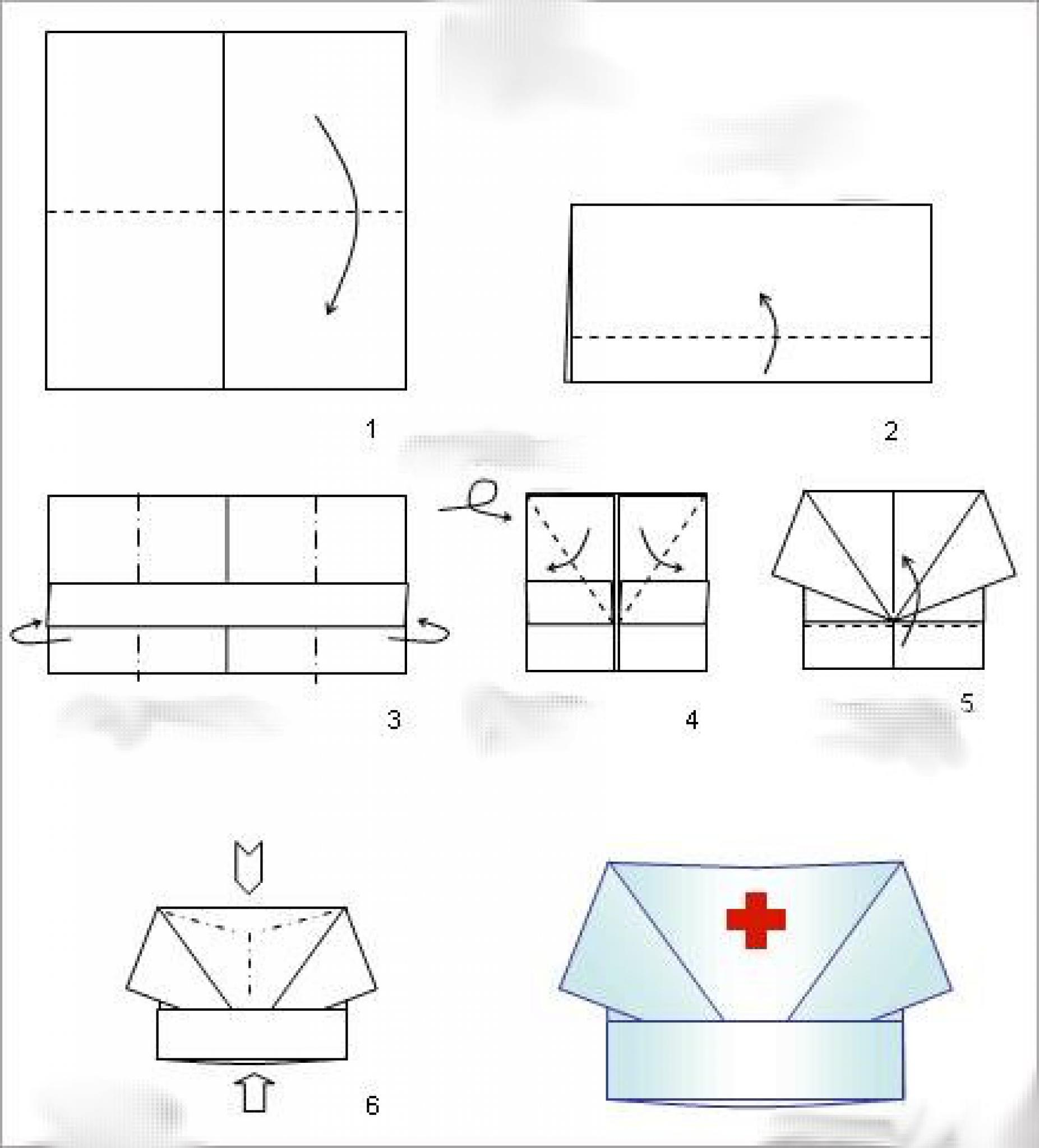 Как сделать колпак для врача