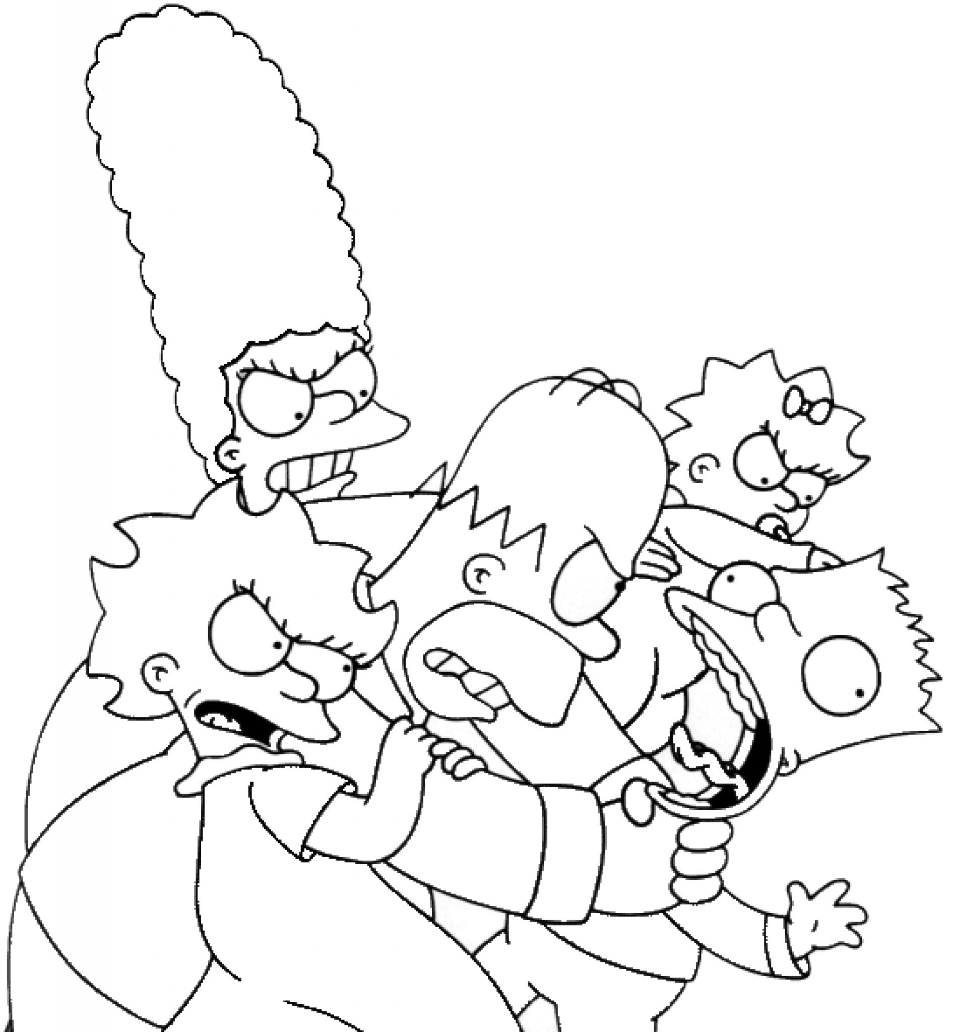 simpsonovi omalovánky  návody pro tvoření  promaminkycz