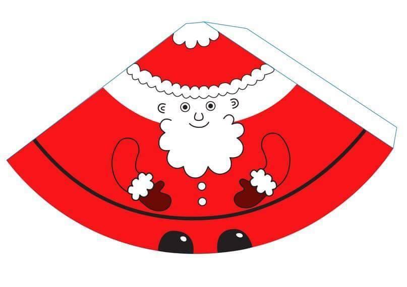 Дед мороз из бумаги схема объемный - Дед мороз своими руками из бумаги. Бумажный дед мороз