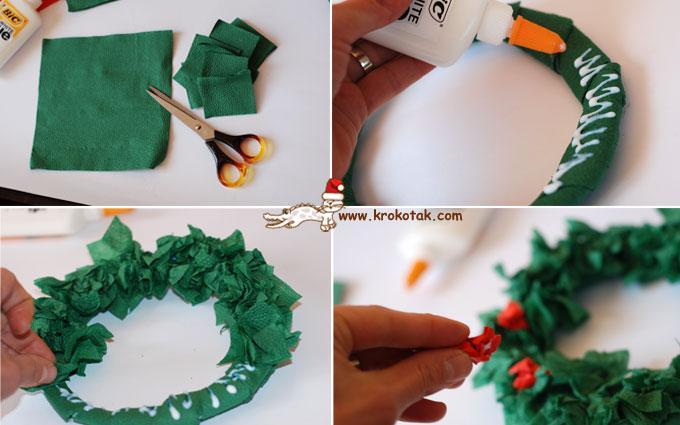 Как делать новогодние венки своими руками из бумаги