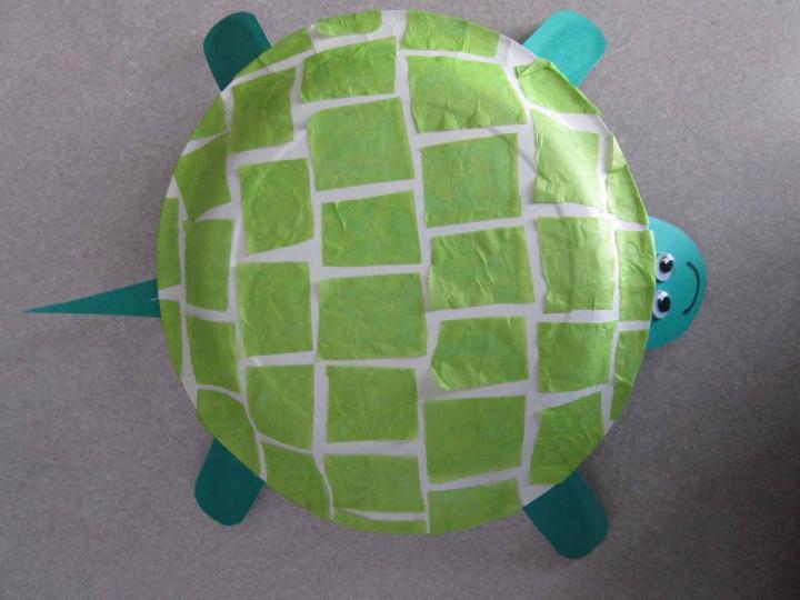 Как сделать черепаху из миски