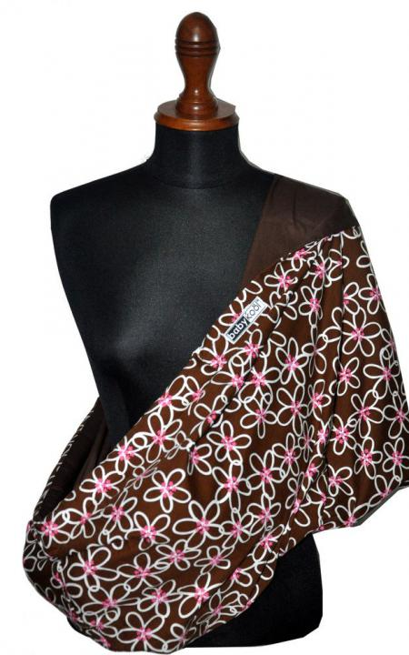 Babykool Baby Pouch - Brown Flower