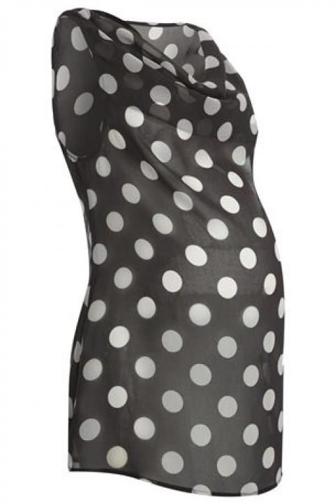 Chiffon Spot Sleeveless Blouse