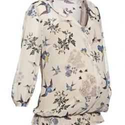 Cream Bird Blouse