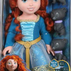 Disney Merida s mědvědími bratry
