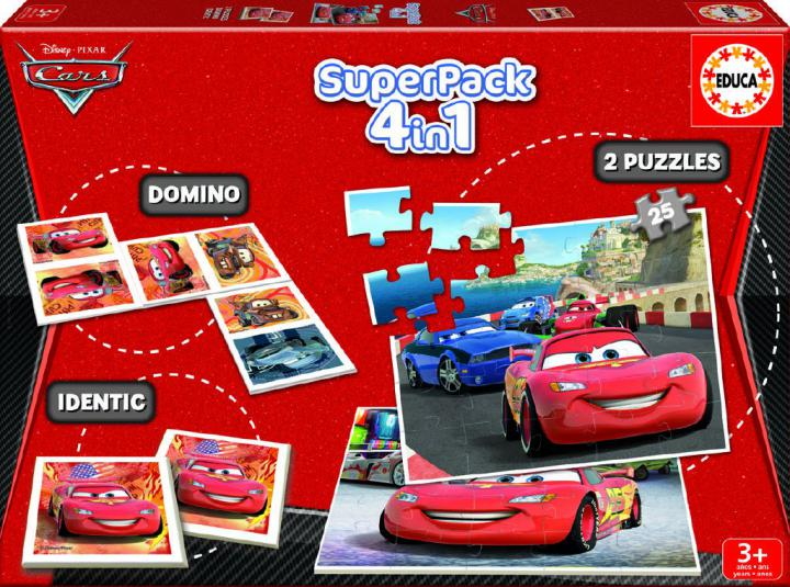 Educa Cars 2 4v1 domino, pexeso, puzzle