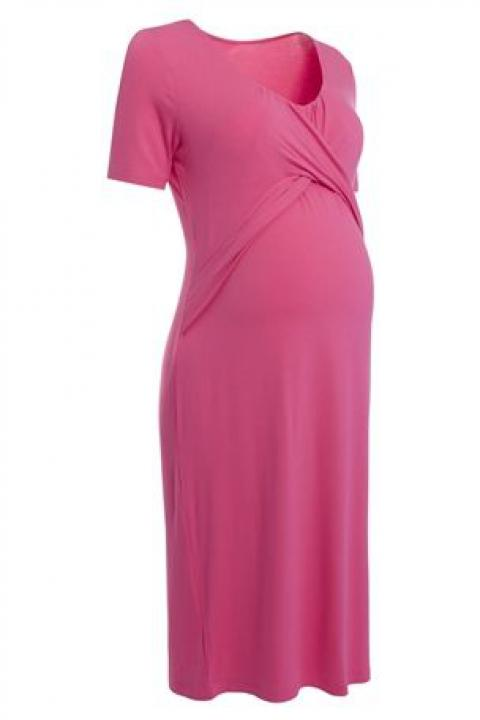 Pink Jersey Nursing Dress