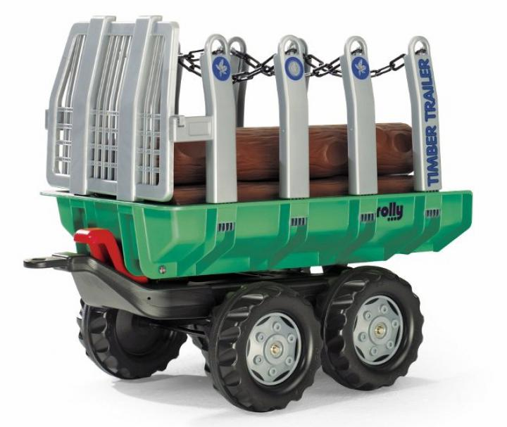 "Rolly Toys Vlečka s kládami ""Timber Trailer\"" 2-osá-zelená"