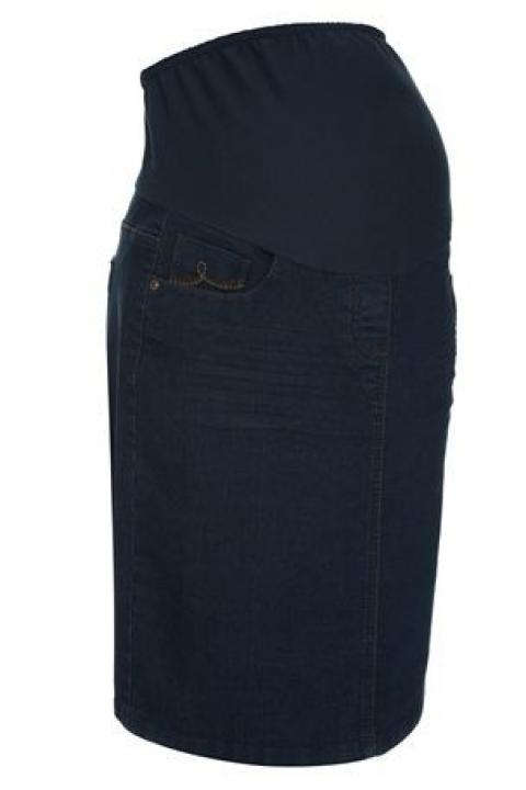 Sukně Over-The-Bump Denim Skirt